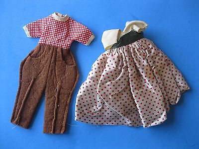Vintage American Character TINY BETSY MCCALL DOLL Clothes Lot Dress & Pony Pals
