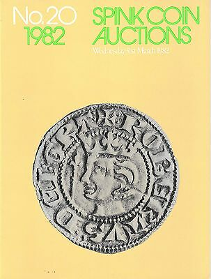 SPINK Auction 20 31st March 1982 English & Scottish coins priced in good order