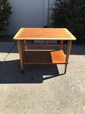 Mid Century Teak Wood Lane DoveTail end table endtable