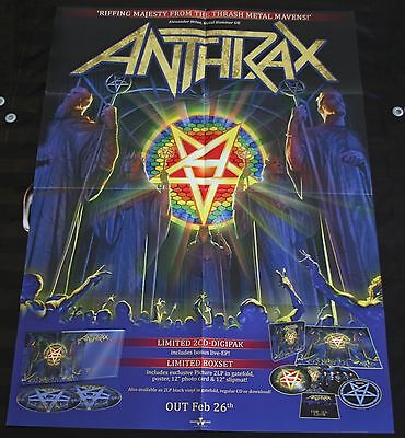 XL Promo Poster ANTHRAX For All Kings / Megadeth Sepultura Metallica