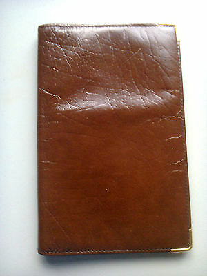 .brown Leather Travel Wallet Documents Cards Holder Organiser
