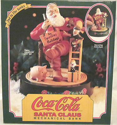 Coca-Cola Santa Clause Mechanical Bank (2nd In The Series) By Ertl Company