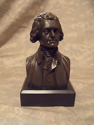 "Thomas Jefferson Statue/Bust  : NEW IN BOX  6"" High / BRONZE w/Black Base"