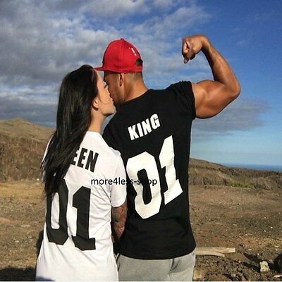 Couple Matching Love T-Shirts  King And Queen  His and Hers New Design 2017 Tees