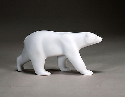 POLAR BEAR Sculpture New direct from JOHN PERRY 9in long Figurine Free Standing