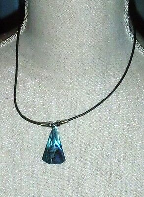 New Zealand Paua Shell Necklace Immaculate Surfer Xmas Gift