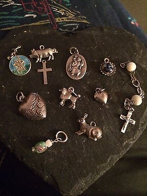 Antique And Vintage Solid Silver Charms