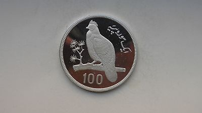 1976 Pakistan 100 Rupees Pheasant Silver Proof coin