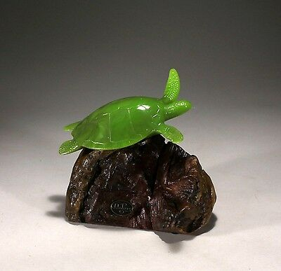 """SEA TURTLE """"JADE"""" Figurine New direct from JOHN PERRY 6in tall Art Sculpture"""