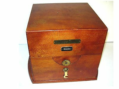 Vintage  HAMILTON SHIPS CHRONOMETER DECK CLOCK WOODEN BOX CASE