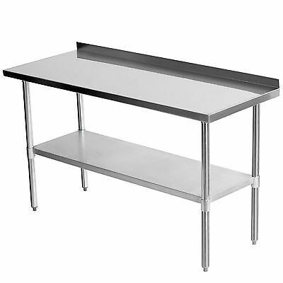 Commercial 1525 x 610mm Kitchen Top Food Stainless Steel Work Bench Splash 5x2FT