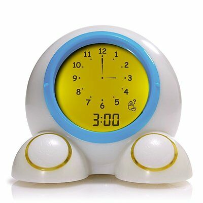 ONAROO TEACH ME TIME TALKING ALARM CLOCK & Night-Light Kids Bedtime *NEW*