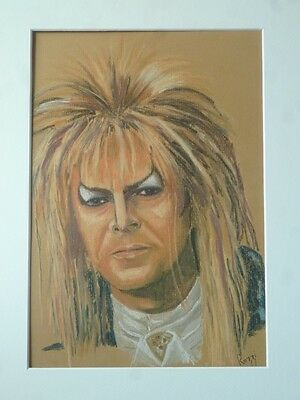 Original Artwork by 'Rozzi', pastel picture / painting of 'David Bowie'.(framed)