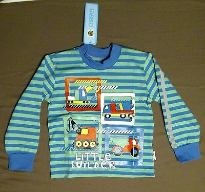 Baby Boy T-Shirt Construction Trucks Long Sleeve 12-18 months BRAND NEW!