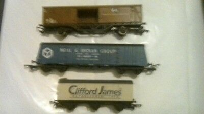 2 X Hornby + 1 X Lima Goods Wagons