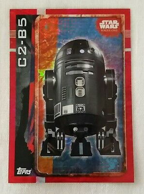 Topps UK Star Wars Rogue One Holographic Foil card C2-B5 192