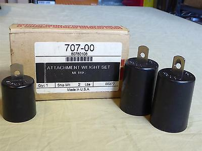 Vintage OHAUS ATTACHMENT WEIGHT SET 2 Lbs. (Metric) - #707-00 - In Box