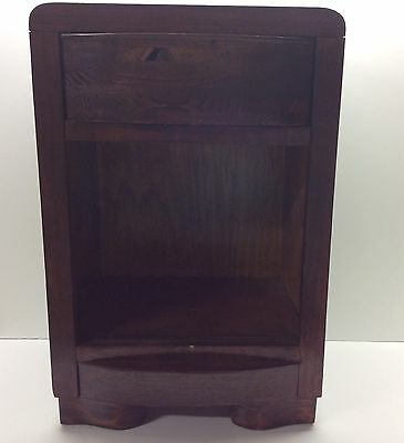 Vintage Solid Wood End Side Table With Drawer N5
