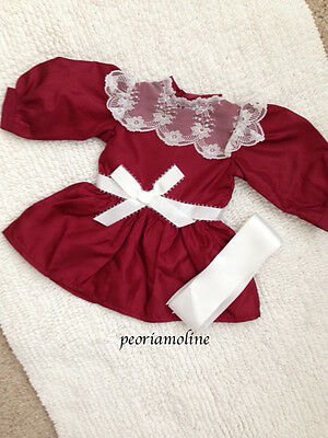 American Girl Samantha HOLIDAY CRANBERRY PARTY Dress Outfit 2 PC Christmas