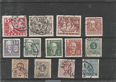 lot 43) sweden early used stamps high cat.value quality lot.