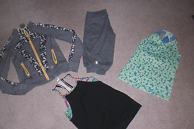 Lot of Girls Ivivva by Lululemon Crops, Rare Jacket and 2 Tank Tops sz 6