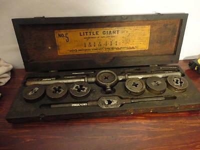 Vintage Wells Brothers Company Little Giant #5 Assortment Tap and Die set