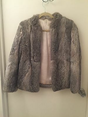 Genuine Vintage Fox Fur Coat With Silk Lining Size 10