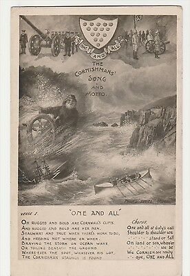 The Cornishmans' Song And Motto Postcard
