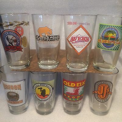 National Micro Beer, Brewery Pint Glasses, Your Choice, Pick 4