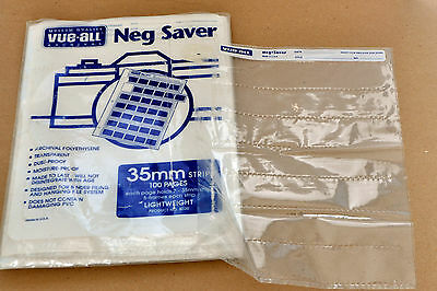 Vue-All Archival 35mm Negative Saver 7 Strips of 5 Negs (50 Pages) PVC Free