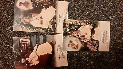 3 military song postcards , laddie in khaki