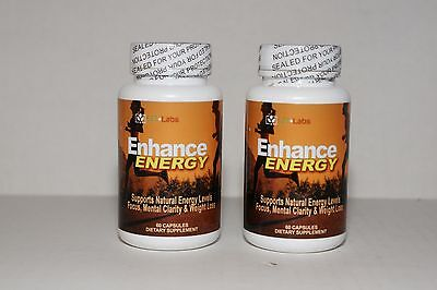2 Bottles LFI Enhance Energy Other Fuel & Energy Stack For 6 Hours Energy, Meta