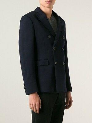 NWT Burberry London Stirling Men's Navy Double Breasted Wool Blazer Sz EU52/US42