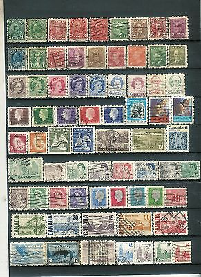 Good Lot of British Commonwealth stamps CANADA over 70 Vintage  A13