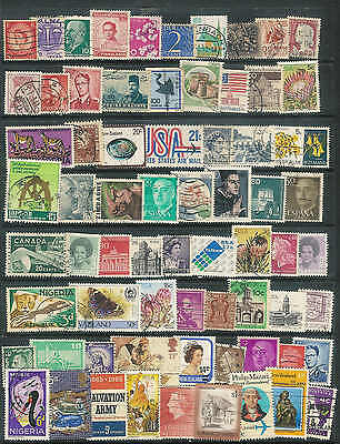 Collection of 70 worldwide stamps good mix of years and countries  NICE LOT A54