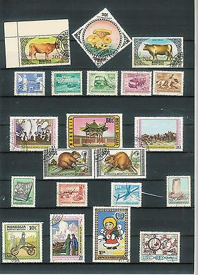 Nice lot of 21 stamps from MONGOLIA  D15