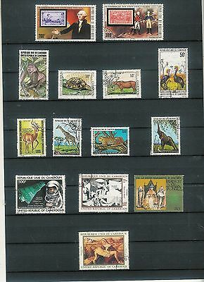 Superb  lot of 14 used stamps French colonies Cameroon etc. Cat val   €20  A4