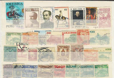 Nice lot of 30 mostly Vintage stamps from Peru. Good condition, A42