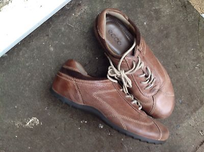 Lovely Leather Lace Up Ladies Shoes By Ecco UK 5