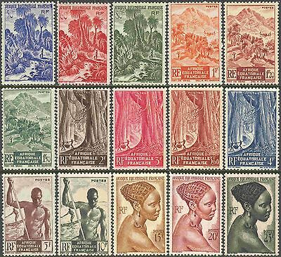 French Equatorial Africa Mini-Collection of 30 Different Unused Stamps
