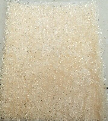Cream curly silky Faux Fur