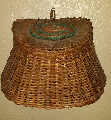 Wicker Fish Creole Basket Fly Fishing Decoration