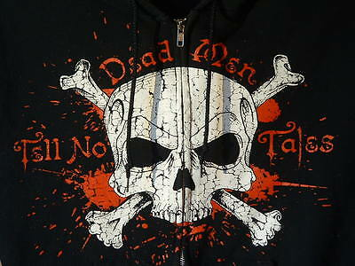 Disney, Pirates Of The Carbbean, Hoodie, Adult M, Zipper Front, 2 Sided Design