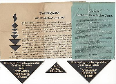 Old Brochures & Labels Stearns' Headache Cure, Windsor, Ont. Canada 1898