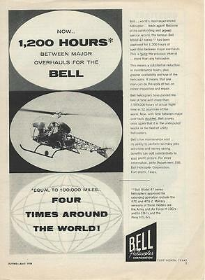 1958 Bell Model 47 Helicopter Ad