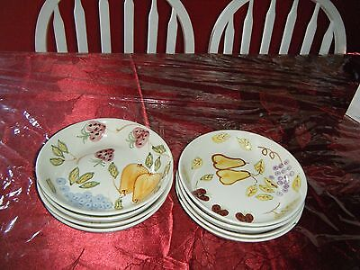 Set Of 8 Brand New Pasta Bowls With Fruit Design.