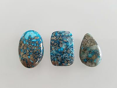 55 CT 100% Genuine Persian Turquoise Cabochons