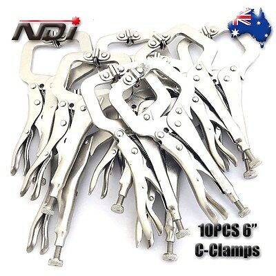 "10pcs Heavy Duty Steel 6"" C-Clamps Mig Welding Locking Plier Vice Grip 0106"