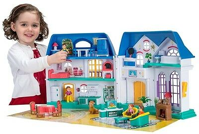 My Dream Mansion Doll House 3 Storey Lights Sounds Dog All Furniture Accessories