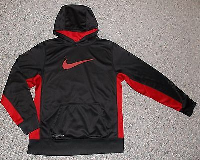 Boy's Nike KO 2.0 Pullover Training Hoodie Black Red Youth XL 18-20 Therma Fit
